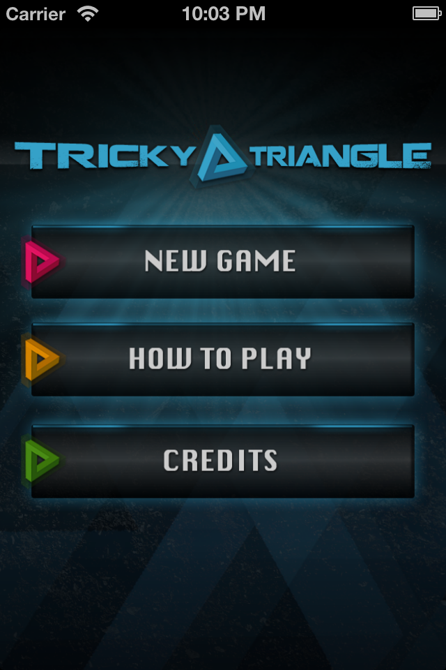 Screenshot Tricky Triangle Board Game